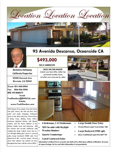 OPEN HOUSE Saturday and Sunday 12-4pm